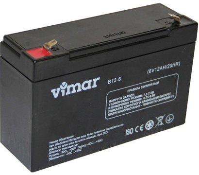 Фото аккумулятора VIMAR B12-6 6В