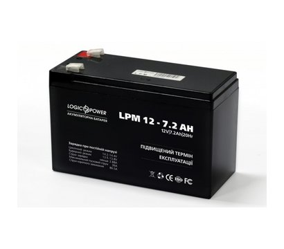 Фото №1 аккумулятора LogicPower LPM 12-7.2 AH