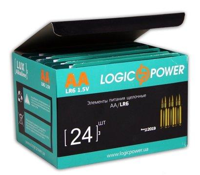 Фото №1 батарейки LogicPower AA LR6 Alkaline (2шт в блистере)