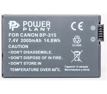 Фото №1 аккумулятора PowerPlant 2000mAh для Canon BP-315 - DV00DV1078