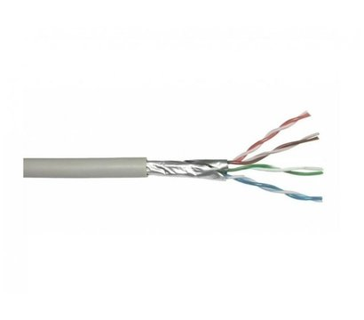 Фото кабеля LogicPower FTP 5e 4x2x0.50 Cu внутр. (медь) 305м