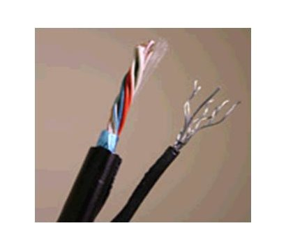 Фото кабеля LogicPower UTP 5e 4x2x0.51 CCA с тросом (ал+медь) 305м