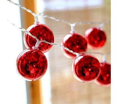 Фото №1 светодиодных гирляндов ColorWay Christmas lights ball CW-MC-LB20U