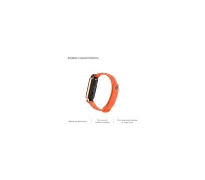 Фото №3 ремешка Armorstandart Carbon Silicone Series для Xiaomi Mi Band 4/3 Orange — ARM55197