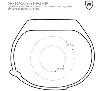 Фото №3 ремешка Armorstandart для Xiaomi Mi Band 2 Black — ARM47962