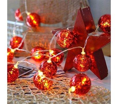 Фото светодиодных гирляндов ColorWay Christmas lights ball CW-MC-LB20U