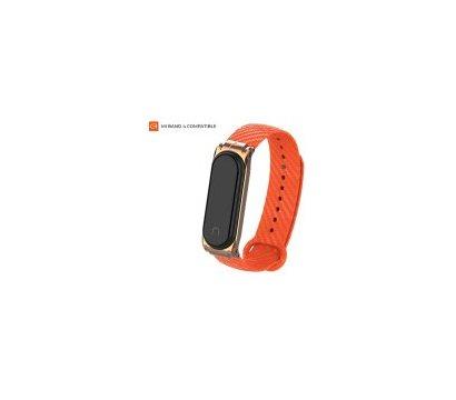 Фото ремешка Armorstandart Carbon Silicone Series для Xiaomi Mi Band 4/3 Orange — ARM55197