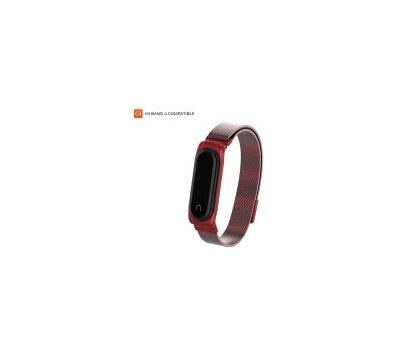 Фото ремешка Armorstandart Milanese Magnetic Band для Xiaomi Mi Band 4/3 Red — ARM55032
