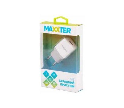 Фото №1 зарядного устройства Maxxter 1USBx2.1A White — UC-24A_