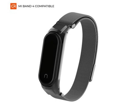 Фото ремешка Armorstandart Milanese Magnetic Band 4303 для Xiaomi Mi Band 4/3 Black — ARM55540