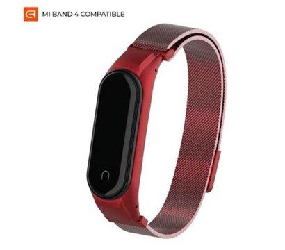 Фото ремешка Armorstandart Milanese Magnetic Band 4303 для Xiaomi Mi Band 4/3 Red — ARM55541