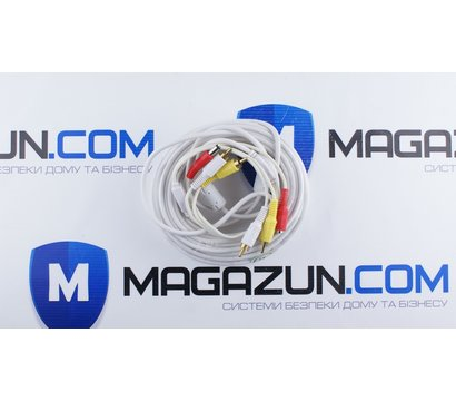 Фото №1 кабеля Lux 2RCA+DC 20м