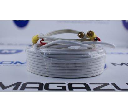 Фото №2 кабеля Lux 2RCA+DC 20м